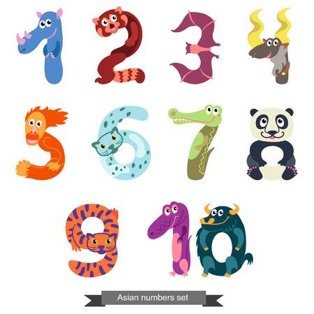 kiddie: Numbers like Asian animals