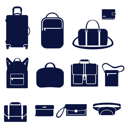 handy man: Different types of mens bags Illustration