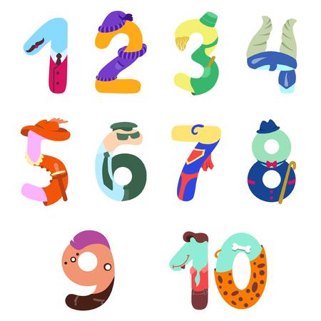 Numbers like man symbols