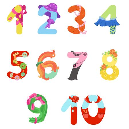 Numbers like woman symbols
