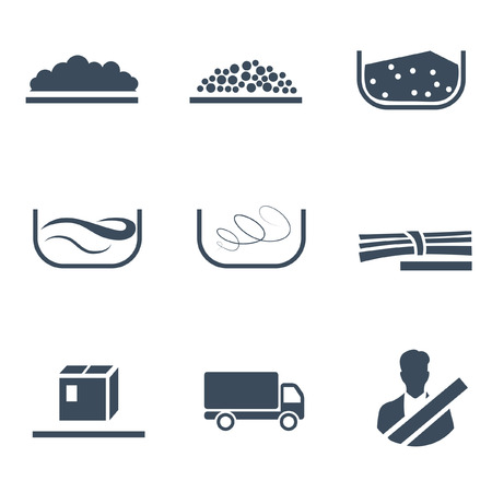 Icons of different types of cargo Imagens - 70792031