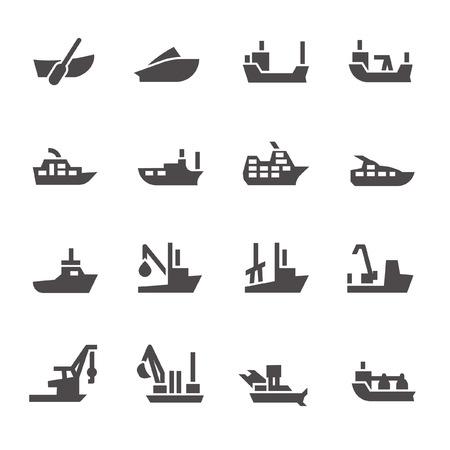 Cruise ship icons Ilustração