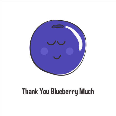Thanksgiving card thank you blueberry very much