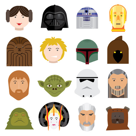 beings: Icons heads beings. Vector.