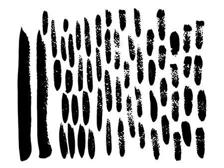 strokes: Modern brush strokes. Vector texture of the brush strokes. Illustration