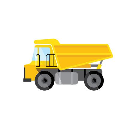quarry: Vector Flat Truck.
