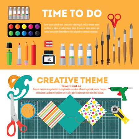 creative tools: Creative Tools  Banner Illustration