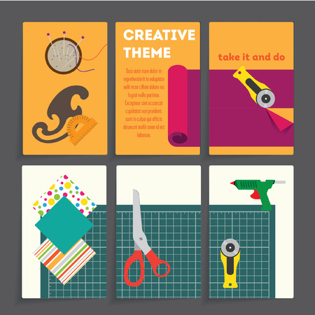 creative: Creative Tools bussines card Illustration