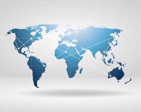 Wektorowa mapa świata.