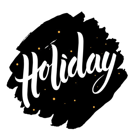 holidays: Lettering happy holidays