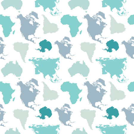 continents: seamless pattern of continents.