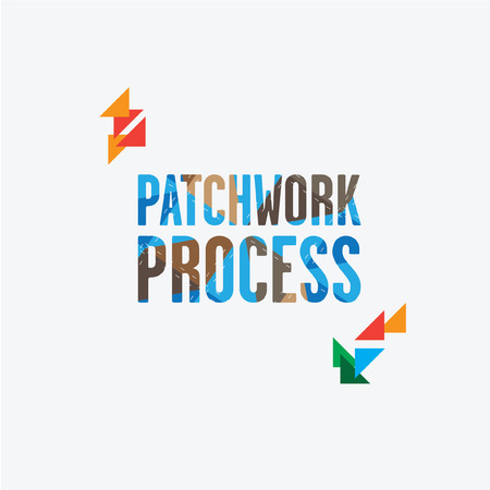 stitching: inscription patchwork process patchwork stitching.