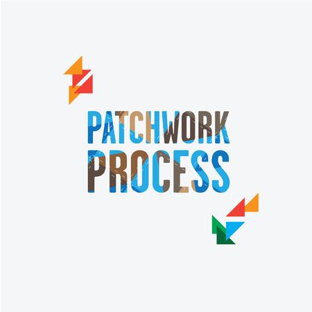 inscription patchwork process patchwork stitching.