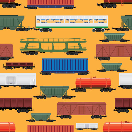 shunt: seamless pattern of different cars Illustration