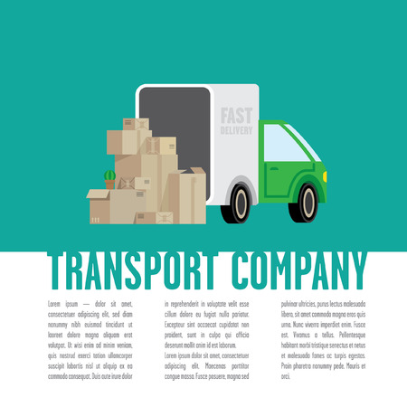 local supply: transportation company document template Illustration