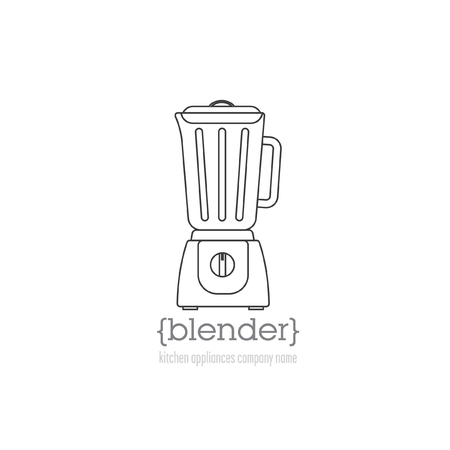 meat chopper: Page template with a logo kitchen appliances. Logo blender with space for company name.