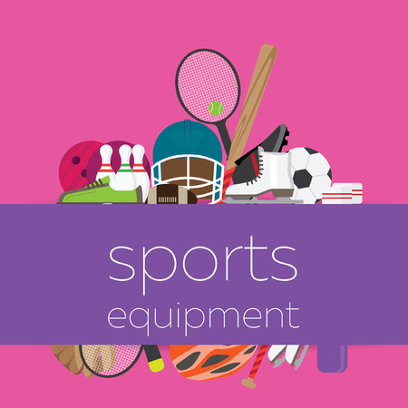 equipment: composition with sports equipment