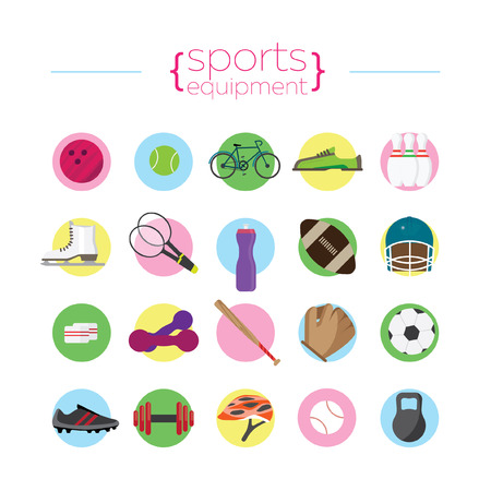 objects: Icons of sports objects Illustration