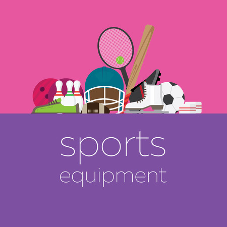 sports equipment: composition with sports equipment