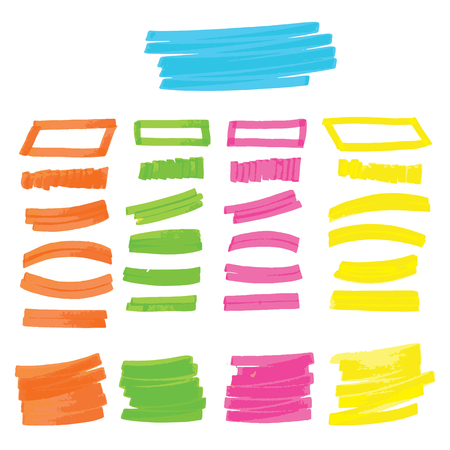 Markers selection of different shapes.