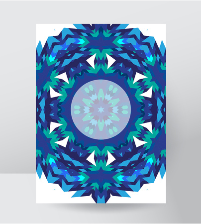 Stylized poster with a frosty design
