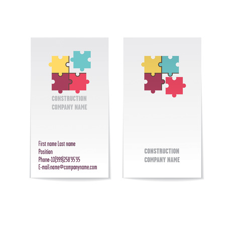 sided: Two sided vector corporate business card template. Modern and minimalist. Illustration