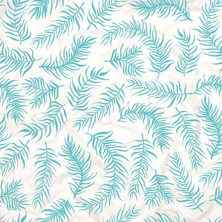 Pattern decoration. Consists of leaves, twigs, buds, wreaths.  background crumpled paper.