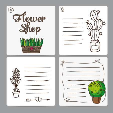Cards shop Flowers Ilustração