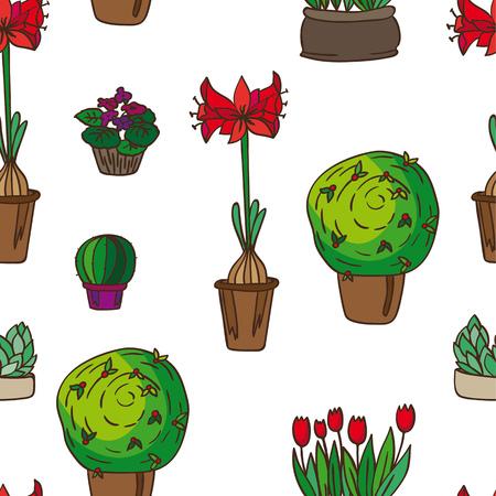 pattern of indoor plants
