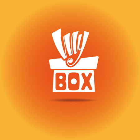 A box with a bow.