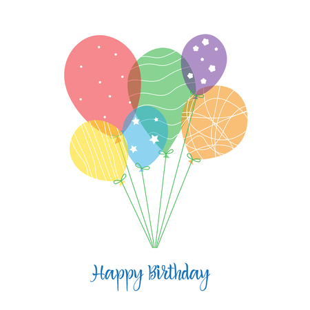 Vector greeting card Background with colorful balls.