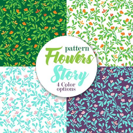 Floral seamless pattern Vector set patterns. Color bakground.