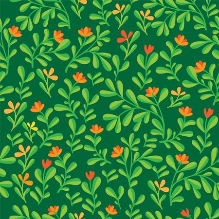 Floral seamless pattern. Vector illustration. Color bakground