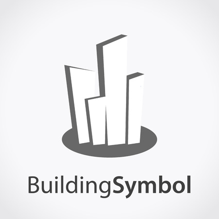 logo batiment: Bâtiment, construction, symbole, conception, vecteur