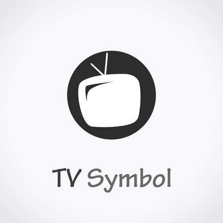 TV icon, vector