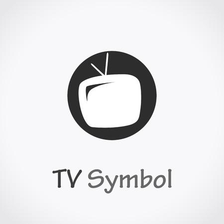 TV icon, vector