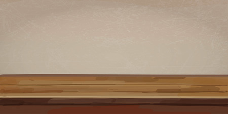 Wooden table background. Vector illustration