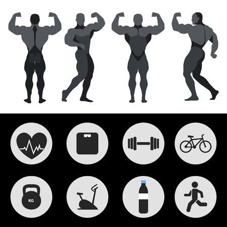 fitness hombres: Los atletas, iconos de los deportes, fitness, ejercicio.