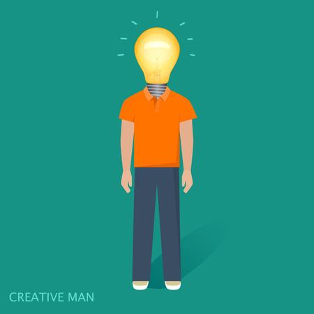 idea lamp: Creative people, lamp, idea vector illustration Illustration