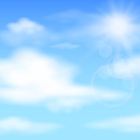 Estate cielo blu, illustrazione di sfondo Vettoriali