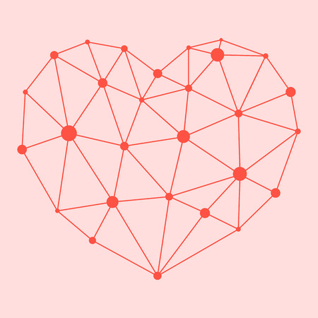 Corazón del átomo, símbolo del amor, la salud, el vector Foto de archivo - 61379532