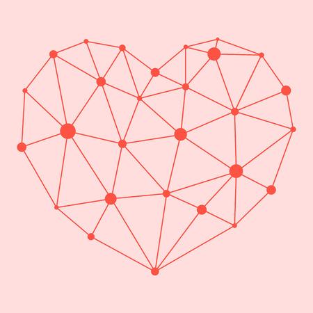 Herz-Atom, das Symbol der Liebe, Gesundheit, Vektor