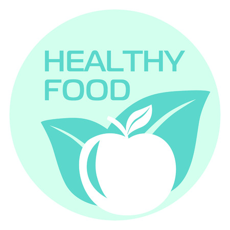 apple leaf: Healthy eating, Apple leaf, icon, vector Illustration