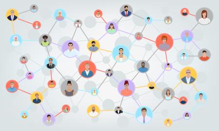 Communication of different people, vector illustration Illustration