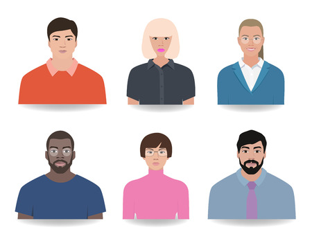 Icons different people, nationality vector