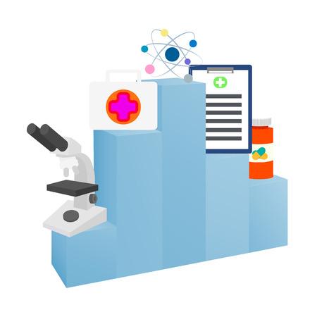 Medical graphic, icons, vector illustration Standard-Bild - 101808878