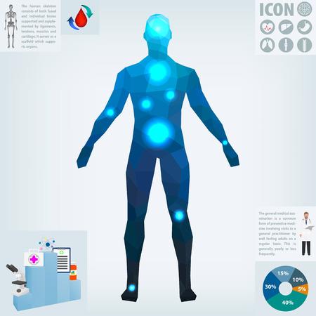 Human health, medicine, vector illustration Standard-Bild - 101808951