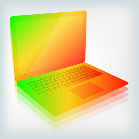 Colorful bright laptop vector illustration