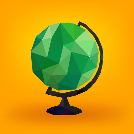 Watermelon globe, faceted styling, vector illustration Ilustrace