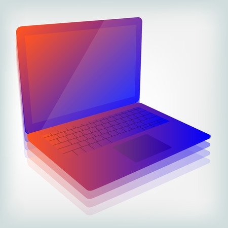 Colorful laptop vector illustration Ilustrace